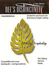 Philedendron Leaf American made Steel Die by Dee's Distinctively Die IME-006 New