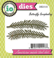 Pine Branch Pair American made Steel Dies by Impression Obsession DIE215-E New