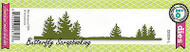 Pine Tree Border Craft Steel Die Cutting Die Impression Obsession DIE086-L New