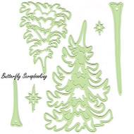 Pine Trees & Stars 6 Dies Steel Craft Cutting Dies by Lea'bilities 45.8947 New
