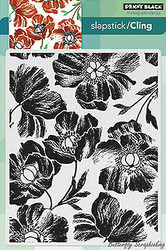 Poppy Pattern, Cling Style Unmounted Rubber Stamp PENNY BLACK - NEW, 40-290