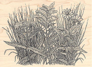Prairie Plants Wood Mounted Rubber Stamp IMPRESSION OBSESSION Plant Nature New