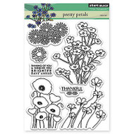 Pretty Petals, Clear Unmounted Rubber Stamp Set PENNY BLACK- NEW, 30-288