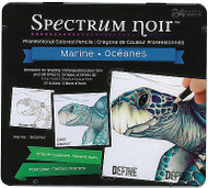 Professional Colored Pencils Spectrum Noir 24 Colors Set Case SPECL-MARINE New