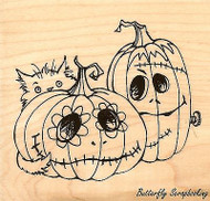 Punkin' Pal Pumpkins Halloween, Wood Mounted Rubber Stamp STAMPENDOUS, NEW- Q202