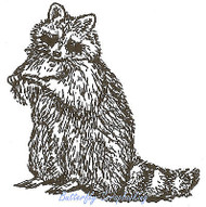 Raccoon, Wood Mounted Rubber Stamp NORTHWOODS - E659