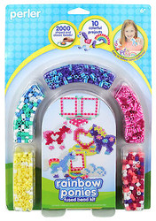 Rainbow Pony Fused Bead Kit EK SUCCESS Kids Craft Beads by Perler NEW 80-55995