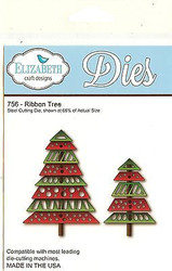 Ribbon Tree, Steel Cutting Die ELIZABETH CRAFT DESIGNS - NEW, #756