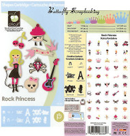 ROCK PRINCESS CRICUT CARTRIDGE DieCutting Cartridge NEW