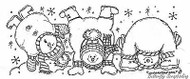 Roly Poly Snowmen, Wood Mounted Rubber Stamp New NORTHWOODS - O4874