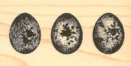 Rose Egg Trio Wood Mounted Rubber Stamp Impression Obsession NEW