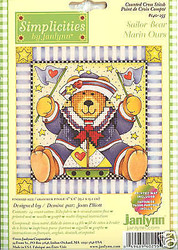 SAILOR BEAR Janlynn Craft Cross Stitch Kit NEW