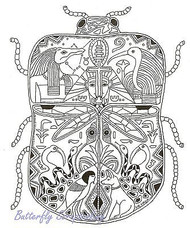 SCARAB Animal Spirit Unmounted Rubber Stamp EARTH ART Sue Coccia New