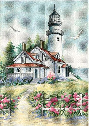 Scenic LIGHTHOUSE Gold Collection Petites Dimensions Cross Stitch Kit 65057 NEW