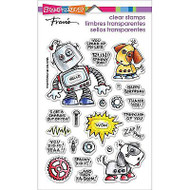 Screwloose N Sparky, Clear Unmounted Rubber Stamp Set STAMPENDOUS - NEW, SSC1219