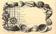 Sea Shells Collage Wood Mounted Rubber Stamp Impression Obsession NEW