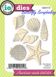 Seashell Shell Set American Made Steel Dies by Impression Obsession DIE077-W New
