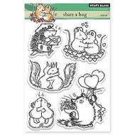 Share A Hug, Clear Unmounted Rubber Stamp Set PENNY BLACK- NEW, 30-271