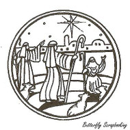 Shepherds Circle, Wood Mounted Rubber Stamp NORTHWOODS - NEW, CC9665