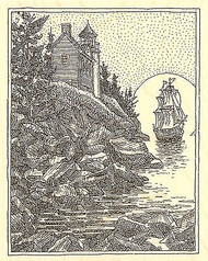 SHIP CLIFF LIGHTHOUSE Wood Mounted Rubber Stamp Impression Obsession H1995 NEW