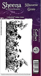 SILHOUETTE GRASS Cling Unmounted Rubber Stamp SHEENA DOUGLASS SD-GRASS-IS New