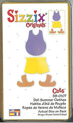 SIZZIX Die DOLL SUMMER CLOTHES Sizzix Die #38-0107