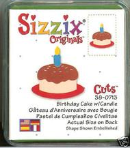SIZZIX Small Green Di BIRTHDAY CAKE Sizzix Die #38-0713