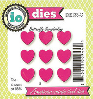 Small HEARTS Set American Made Steel Dies by Impression Obsession DIE133-C New