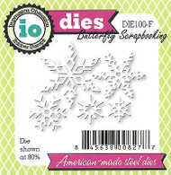 Small Snowflake Set American Made Steel Dies Impression Obsession DIE100-F New