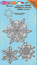Snowflakes Delicate Unmounted Cling Rubber Stamps Set Stampendous CRS5069 NEW