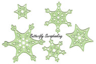 Snowflakes Snow Crystal 5 Dies Steel Cutting Dies by Lea'bilities 45.0089 New
