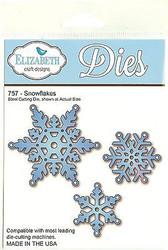 Snowflakes, Steel Cutting Die ELIZABETH CRAFT DESIGNS - NEW, #757