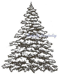Snowy Spruce, Wood Mounted Rubber Stamp NORTHWOODS - NEW, M869