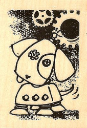 Sparky, Wood Mounted Rubber Stamp STAMPENDOUS, NEW - H316