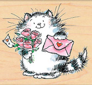 Special Delivery Valentines Day Wood Mounted Rubber Stamp PENNY BLACK 4370J New