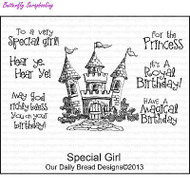 Special Girl, Cling Style Unmounted Stamp Set DAILY BREAD DESIGNS - NEW, F403