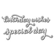 Splendid Birthday Wishes Text, Steel Cutting Dies PENNY BLACK - NEW, 51-107