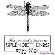 Splendid Things, Cling Style Unmounted Stamp UNITY STAMP, INC. - NEW, IB-AP-170
