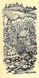 Spring Old Mill, Wood Mounted Rubber Stamp NORTHWOODS - NEW, O9798