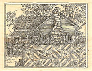 Spring Quilt Scene Wood Mounted Rubber Stamp IMPRESSION OBSESSION H1983 NEW