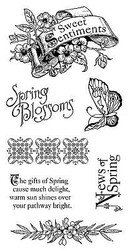 Spring Sweet Sentiments Cling Unmounted Rubber Stamp Set Graphic 45 IC0290 New