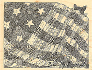 Star Quilt, Wood Mounted Rubber Stamp IMPRESSION OBSESSION - NEW, H1936