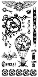 STEAM PUNK Clear Unmounted Rubber Stamps Set INKADINKADO 60-30352 New