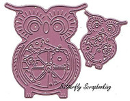 Steampunk OWLS with Gears Dies US made Steel Die by Cheery Lynn Designs B383 New