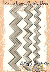 Stitched Chevron Set American made Steel Dies by La La Land Crafts DIE 8102 New