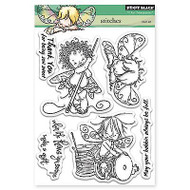 Stitches Fairies, Clear Unmounted Rubber Stamp Set PENNY BLACK- NEW, 30-303