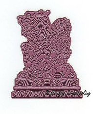 Stone Dragon, Steel Cutting Dies CHEERY LYNN DESIGNS - NEW, B541