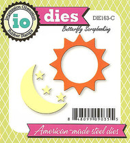 Sun Moon Stars Set American made Steel Dies by Impression Obsession DIE163-C New