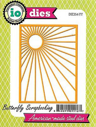 SUNBURST Background Die Cutting Die by Impression Obsession DIE354-YY New