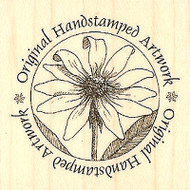 SUNFLOWER CIRCLE Wood Mounted Rubber Stamp Impression Obsession B1188 NEW